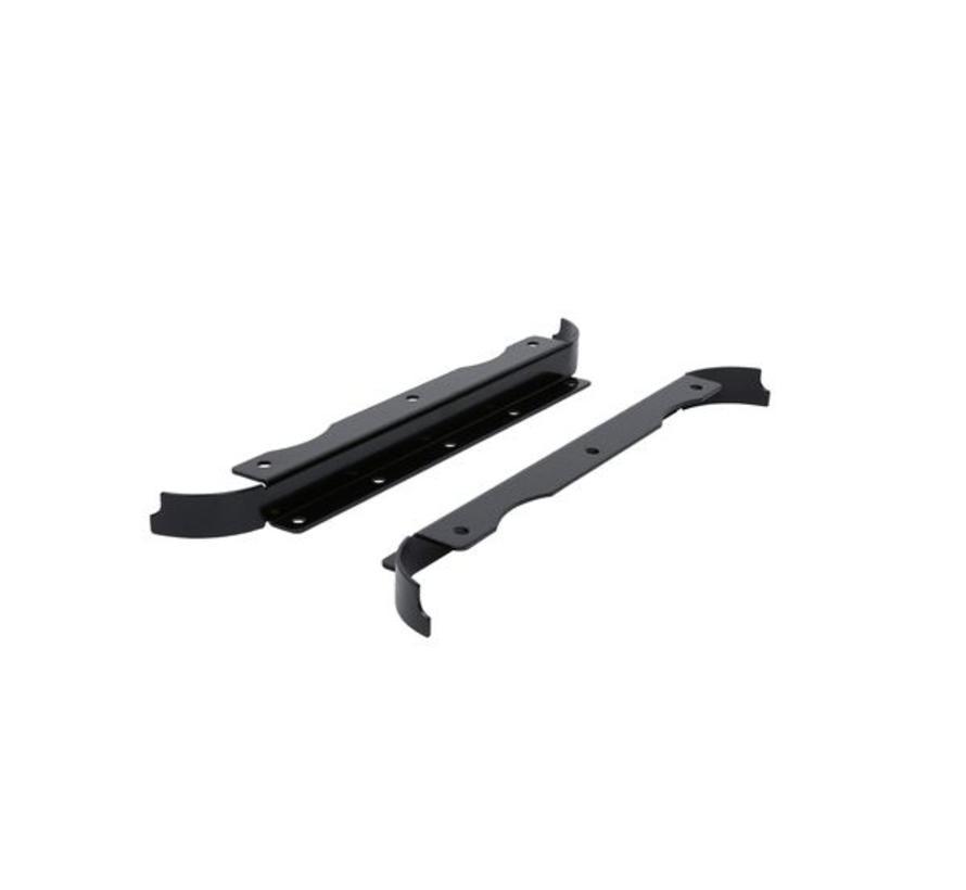 Flat mount bracket for StructureScan 3D Skimmer transducer and TotalScan Skimmer.