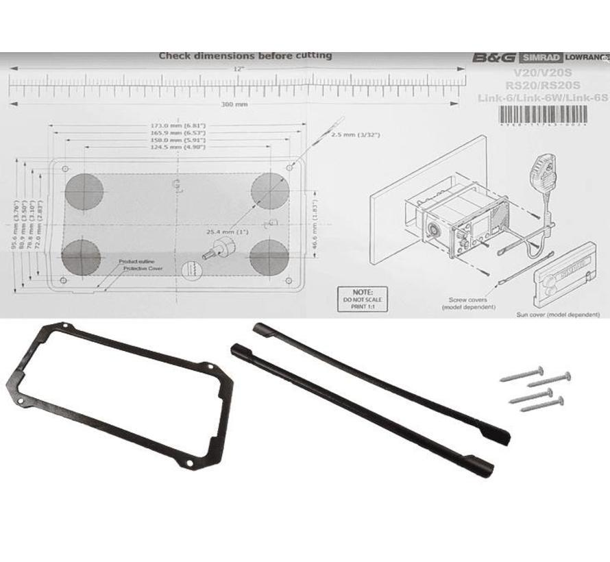 RS40/V60 VHF Flush Mounting kit