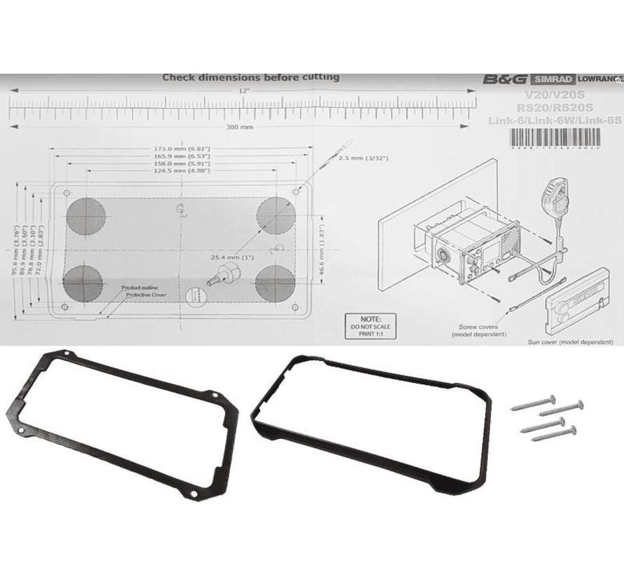 Link-9 VHF Flush Mounting kit - Copy