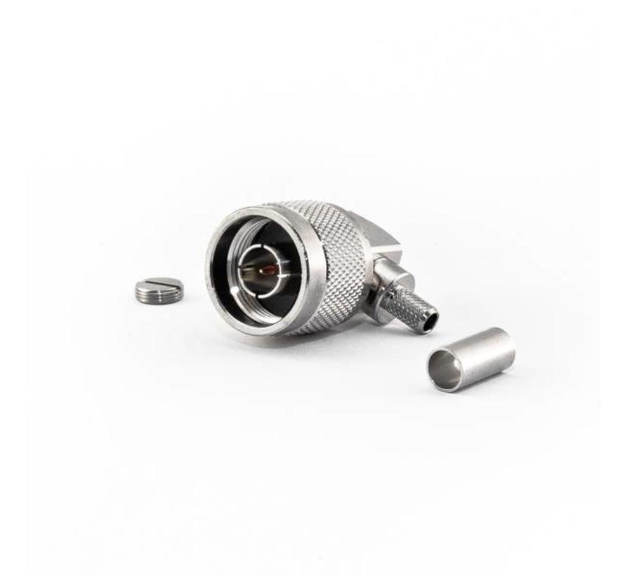 N-stekker haaks voor HDF200-kabel