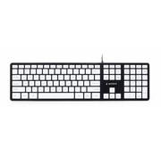 Gembird Slimline toetsenbord, zwart/wit