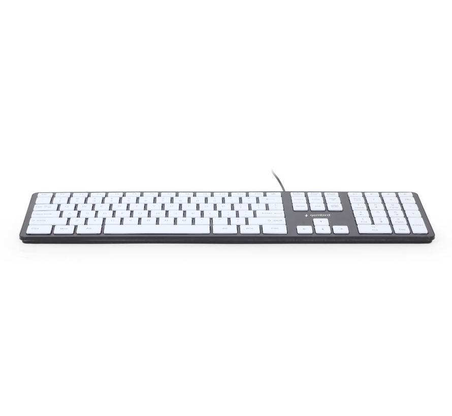 "Slimline ""chocolate"" toetsenbord, zwart/wit"