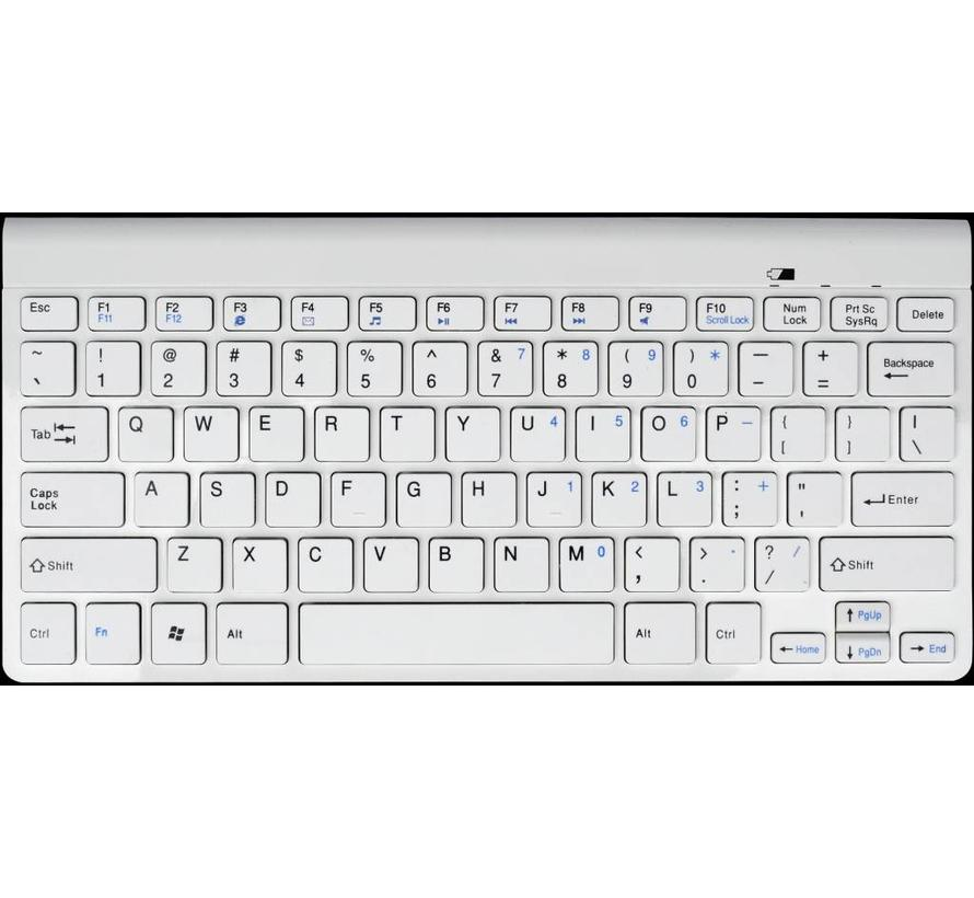 Bluetooth toetsenbord, US layout, wit