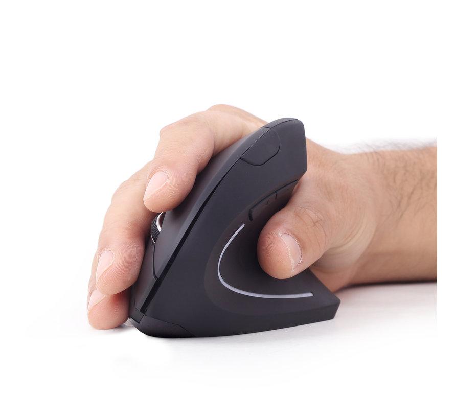 draadloze ergonomische muis zwart