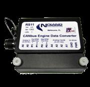 Noland Engeneering RS11 analoge motordata naar NMEA2000 of J1939