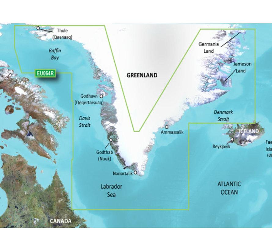 Groenland BlueChart g3 kaart- HXEU064R