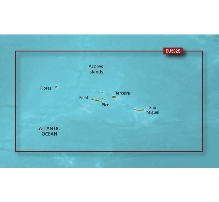 Azoren BlueChart g3 Vision kaart VEU502S