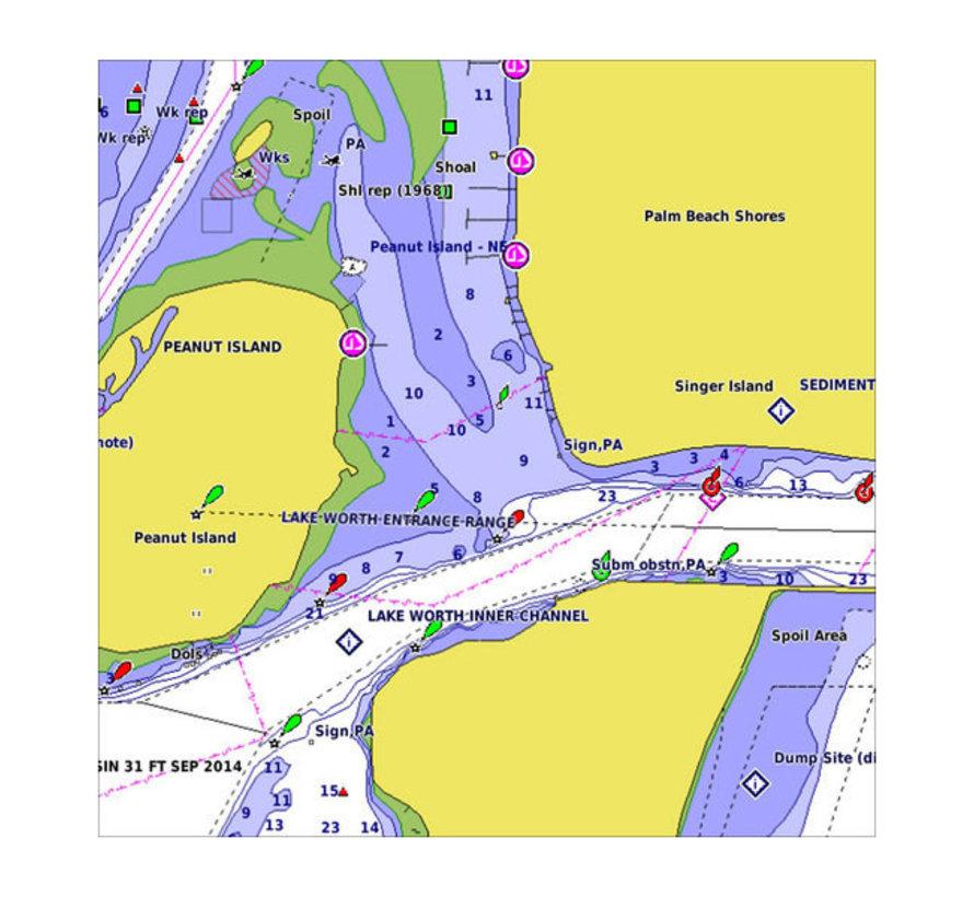 Frankrijk binnenwateren BlueChart g3 kaart