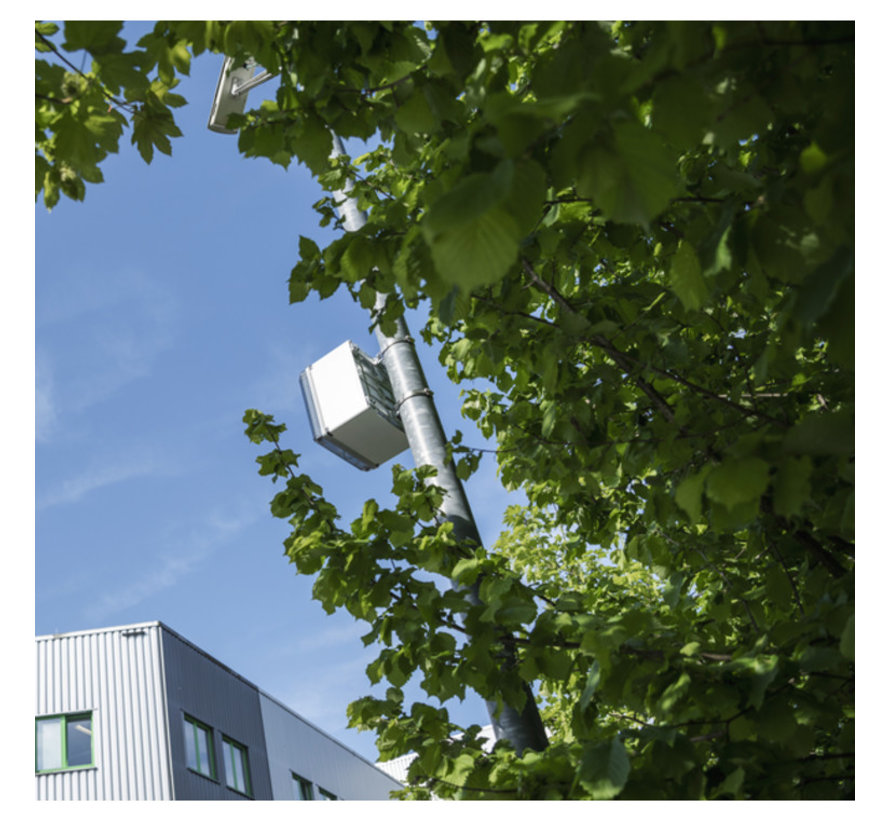 outdoor box 300 x 300 x 180 mm - met transparante deksel