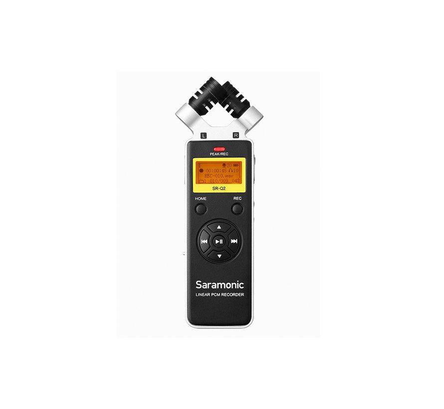 SR-Q2 handheld  recorder met stereo X/Y microfoon