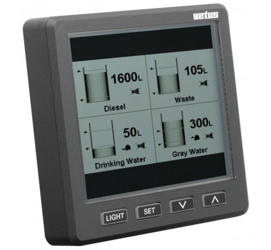 grafisch uitleesvenster voor ultrasone niveausensor