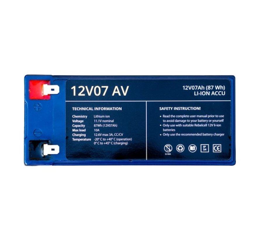 12V07 AV li-ion accu