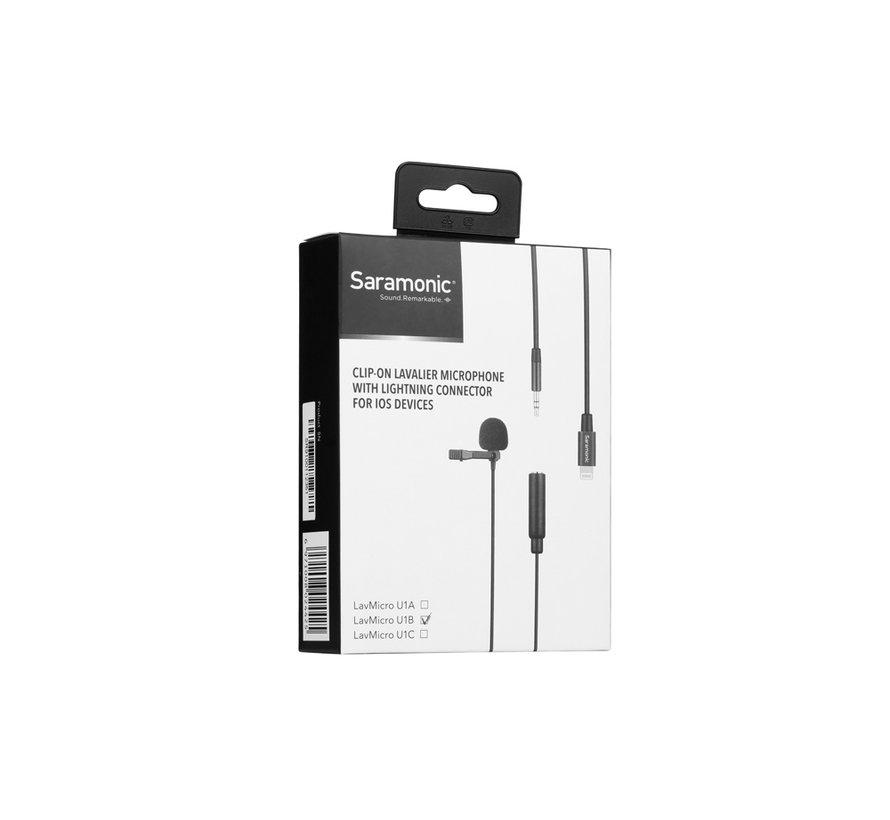 LavMicro U1B dasspeld microfoon met 6 mtr kabel