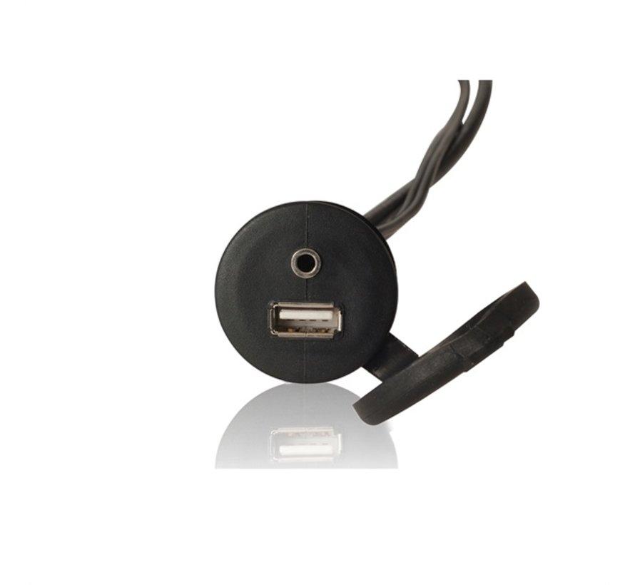 MS-CBUSB3.5 / USB+3.5mm AUX flushmount