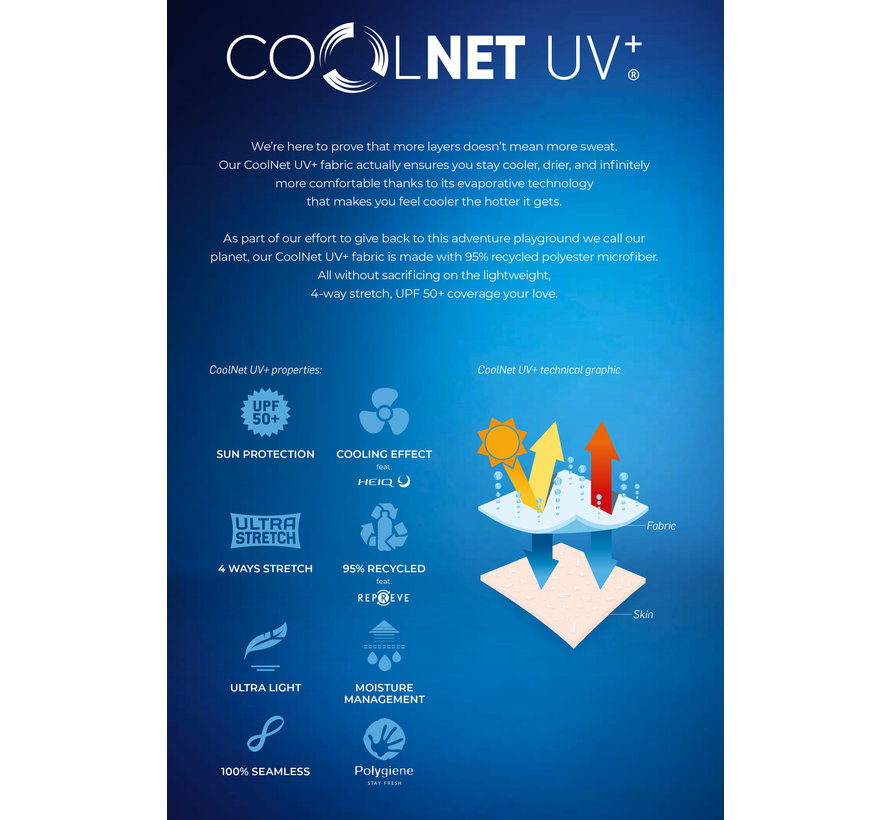 Coolnet Uv+Insect Shield Solid Stone Blue