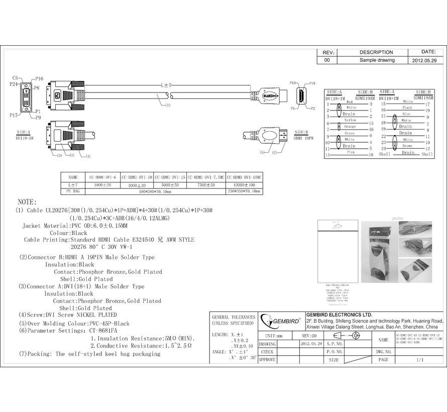 HDMI naar DVI-kabel