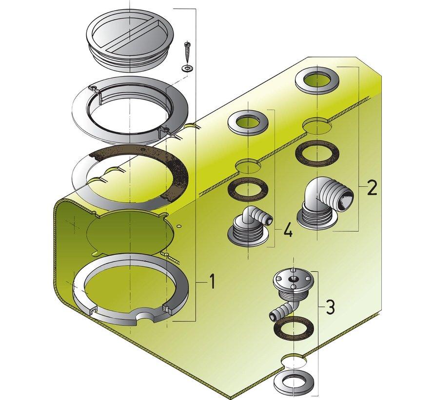 inspectiedeksel kit voor watertanks