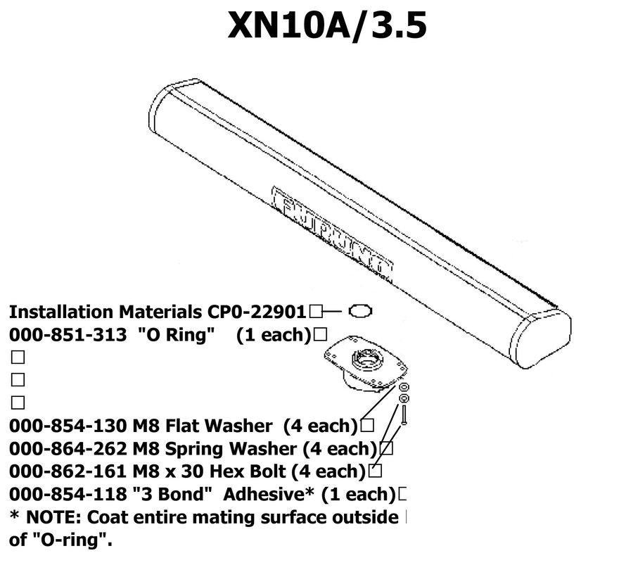 XN-10A - 3,5 Voet radar antennebalk