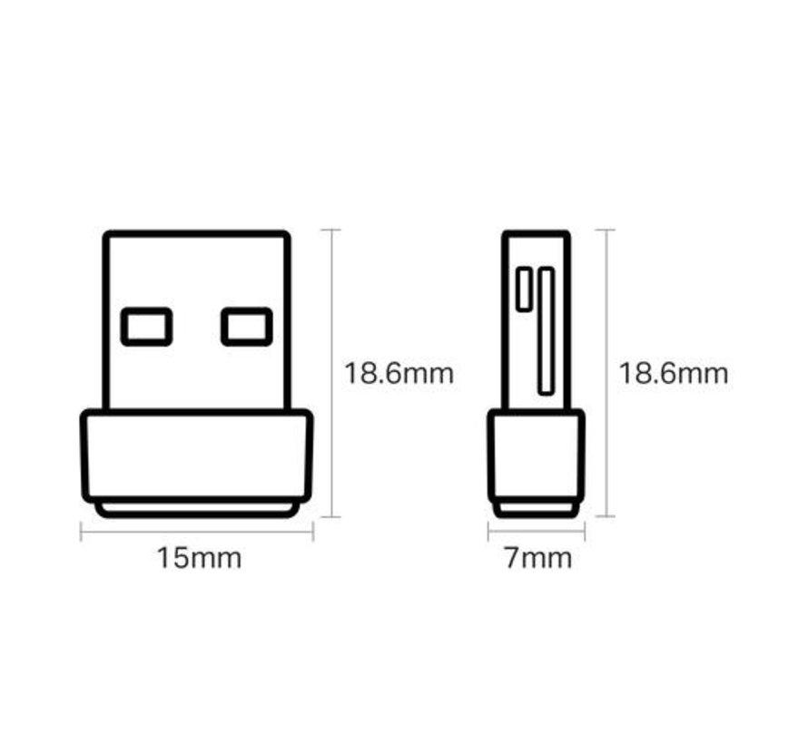 USB NaNo WiFi ontvanger, 633 Mbit/s