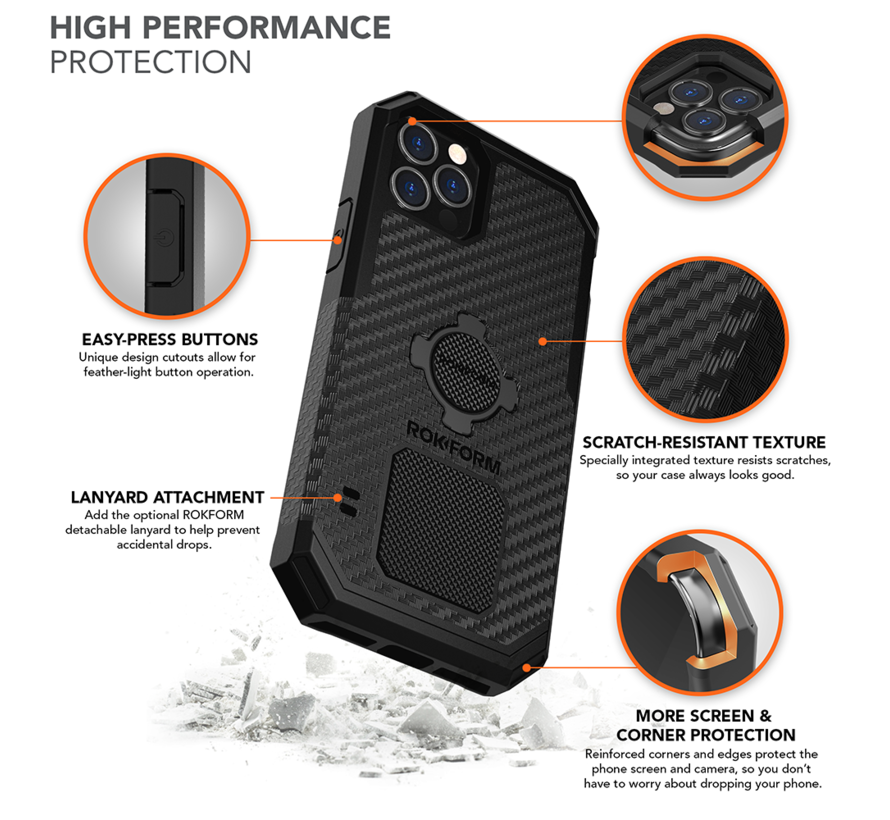 Rugged Case iPhone 12 Mini Black