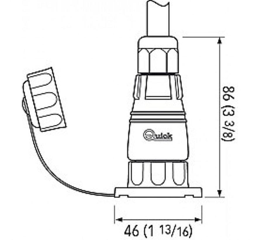 Waterdicht stopcontact en stekker