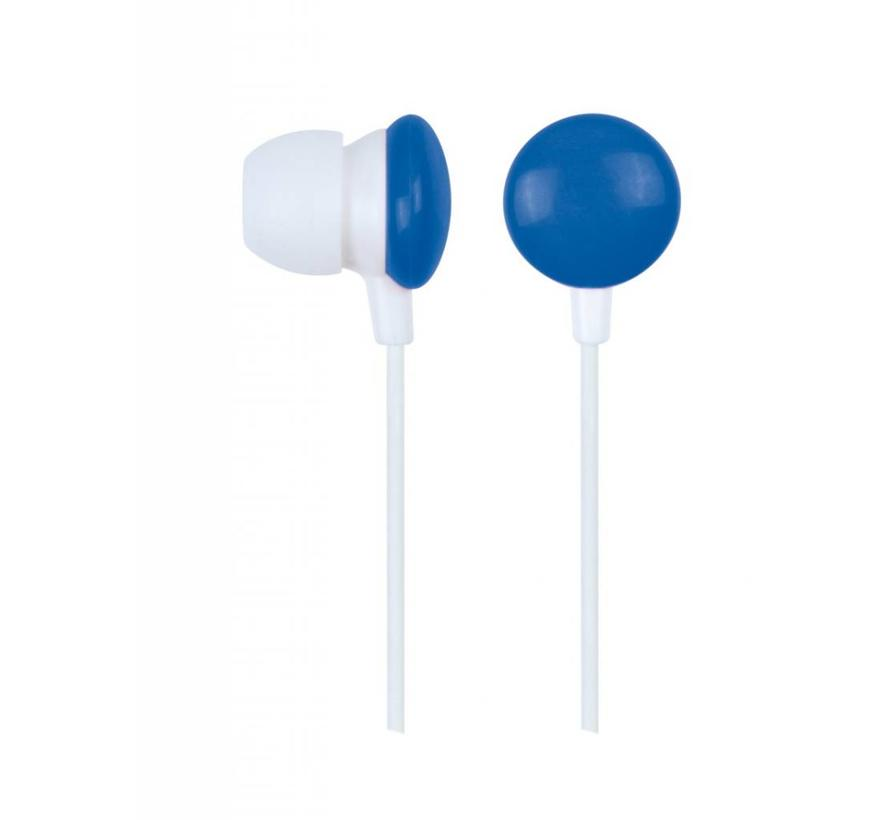 """Stereooortelefoon in-ears """"Blauwe Smarties"""""""