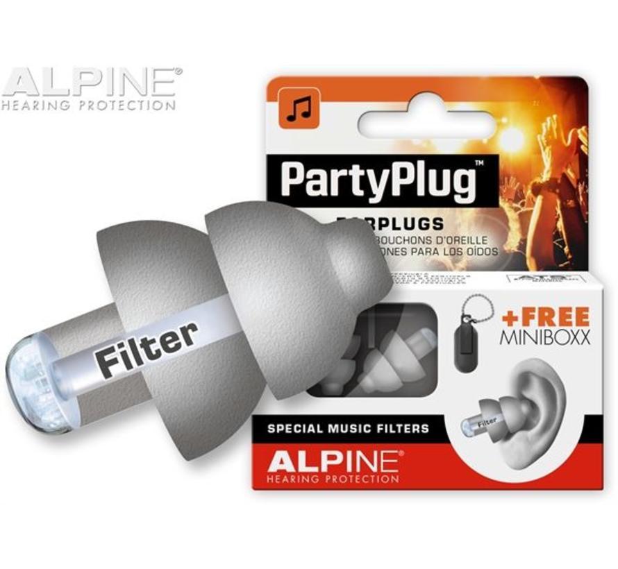PartyPlug earplugs transparant