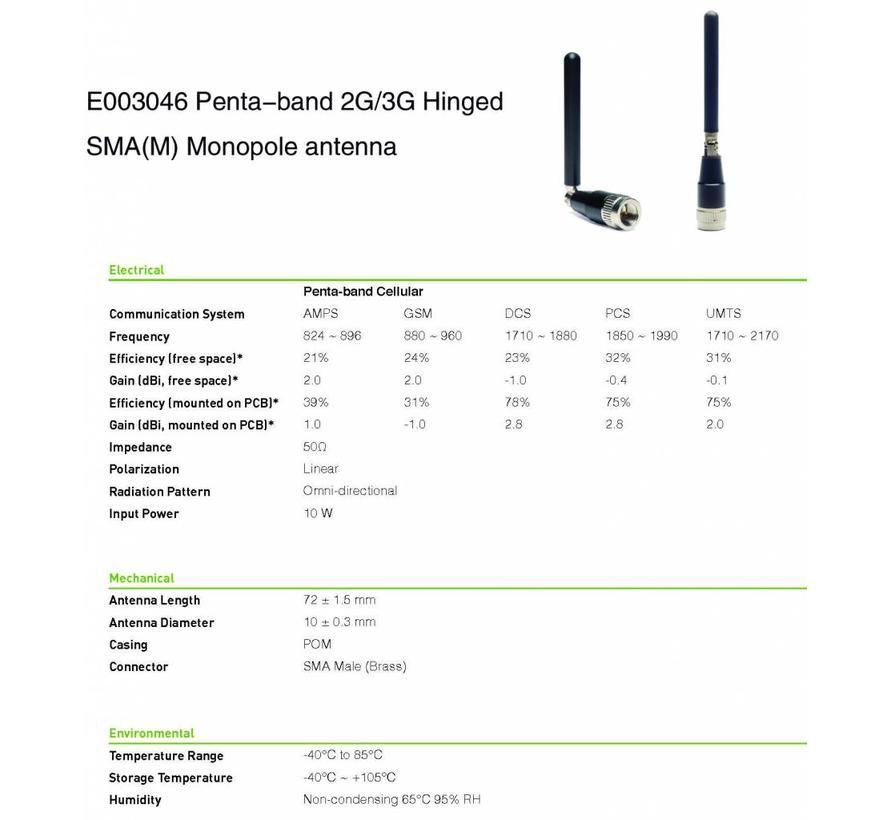 2G/ 3G antenne omnidirectioneel