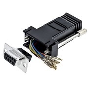 RS 9 Way D-sub Female, RJ45 Adapter, 1 Port,