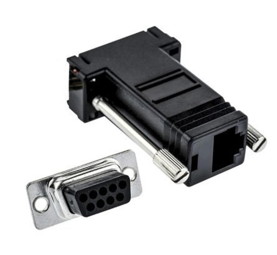 9 Way D-sub Female, RJ45 Adapter, 1 Port,