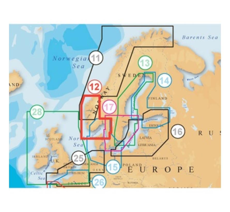 Noorwegen Zuid en West MSD 12p+