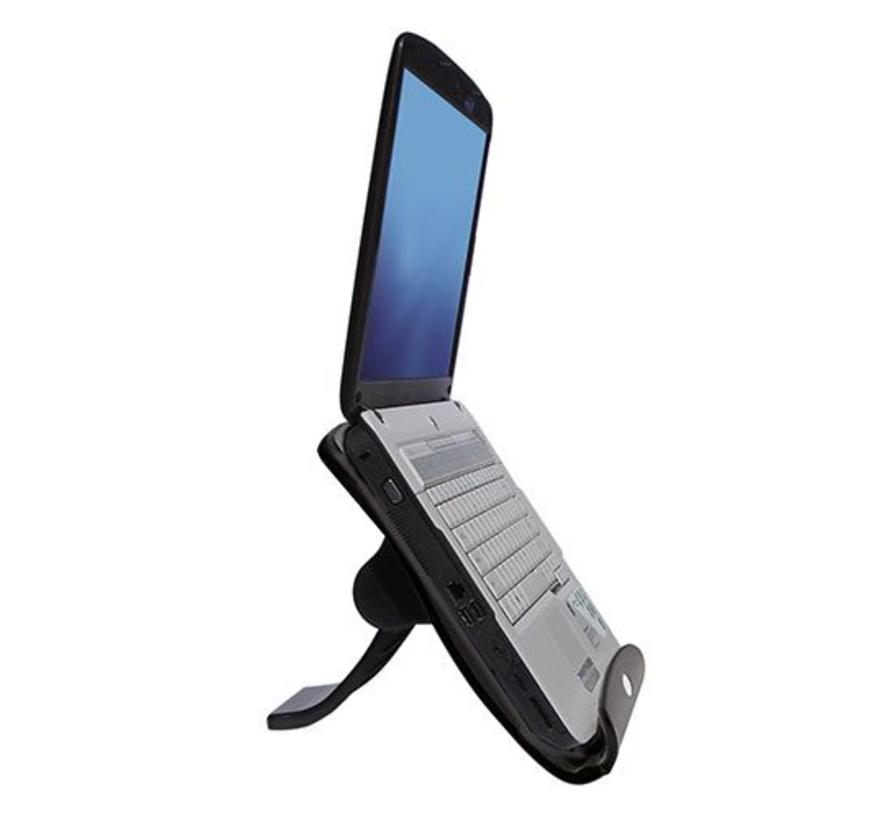 Laptopstandaard, in hoogte verstelbaar, met 4 poorts hub