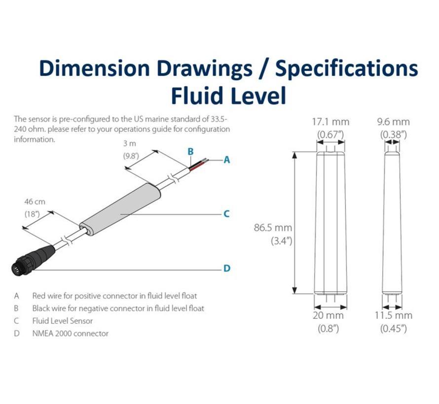 Lowrance Fluid Level Sensor: Vervangt de EP-65 | Mediawinkel