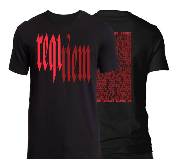 "Men's T-Shirt ""Requiem"" - Based on the Requiem T-Shirt from MPK worn during the iD Tour"