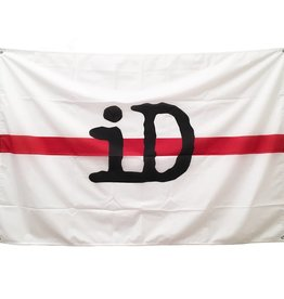 "Flag ""iD"" white and red"
