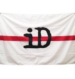"Flagge / Fahne ""iD"" weiß und rot"