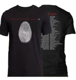 "Men's T-Shirt ""iD Tour"" with Finger Print and Tour Dates 2018"