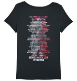 """Stella Lover Women's T-Shirt  """"Tourshirt 2019"""" with Head Print and Tour Dates"""