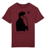 """Children ́s Earthpositiv Classic T Kids Shirt """"iD"""" burgundy made of organic cotton"""