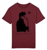 """Children ́s Earthpositiv Classic T Kinder T-Shirt """"iD"""" burgund aus Biobaumwolle"""