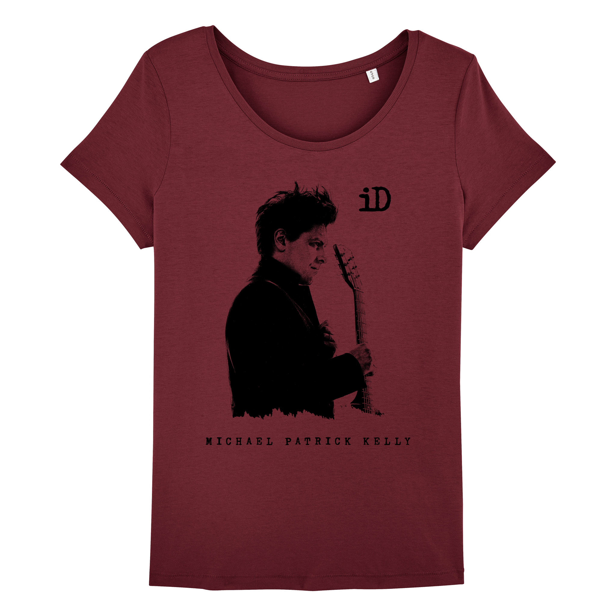 "Stella Wants Women's T-Shirt ""iD"" burgundy made of organic cotton"