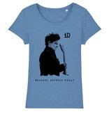 "Stella Wants Damen T-Shirt ""iD"" blau aus Biobaumwolle"