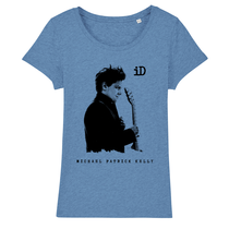"Stella Wants Women's T-Shirt ""iD"" blue made of organic cotton"
