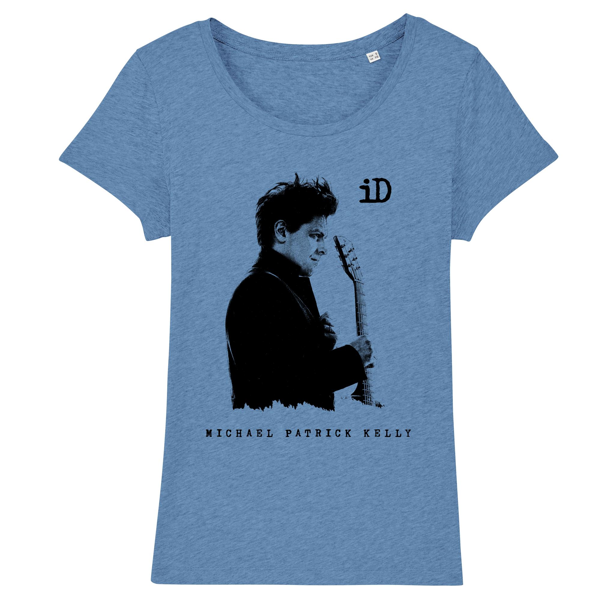 """Stella Lover Damen T-Shirt """"iD"""" blau aus Biobaumwolle"""