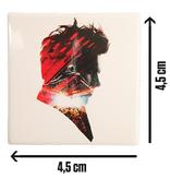 """Weißer Magnet mit """"Live"""" Logo"""