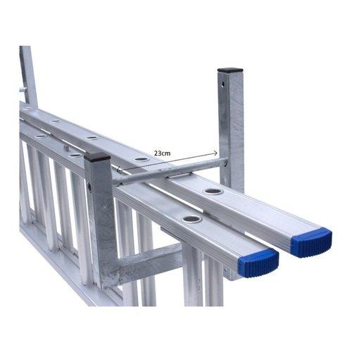 Alu-Top Muurbeugel voor 3 delige ladder 2 stuks