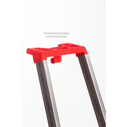 Alu-Top Semi-professionele trap enkel 1x5 treden inclusief platform