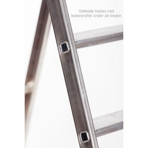 Alu-Top Semi-professionele trap enkel 1x6 treden inclusief platform