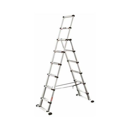 Telesteps Telesteps Black Line Combi ladder dubbel recht 1x6 sporten