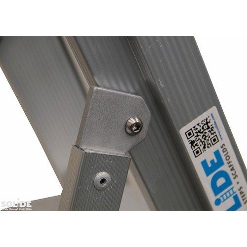 Solide Bordestrap Type PTC enkel 1x5 treden inclusief platform